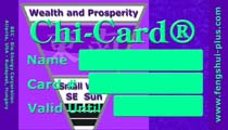 feng shui card wealth